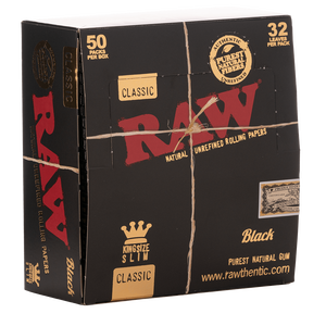 Raw Black King Size Slim | 50er Box