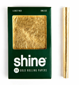 Shine Gold Papers | King Size | Six Sheets